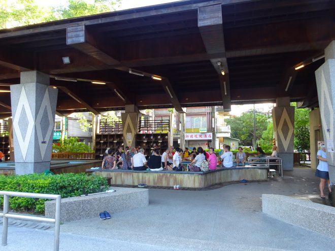 復興公園の足湯