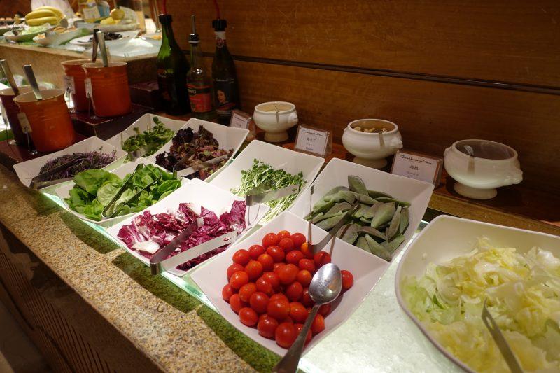 オークラ台北朝食コンチネンタルルームの野菜