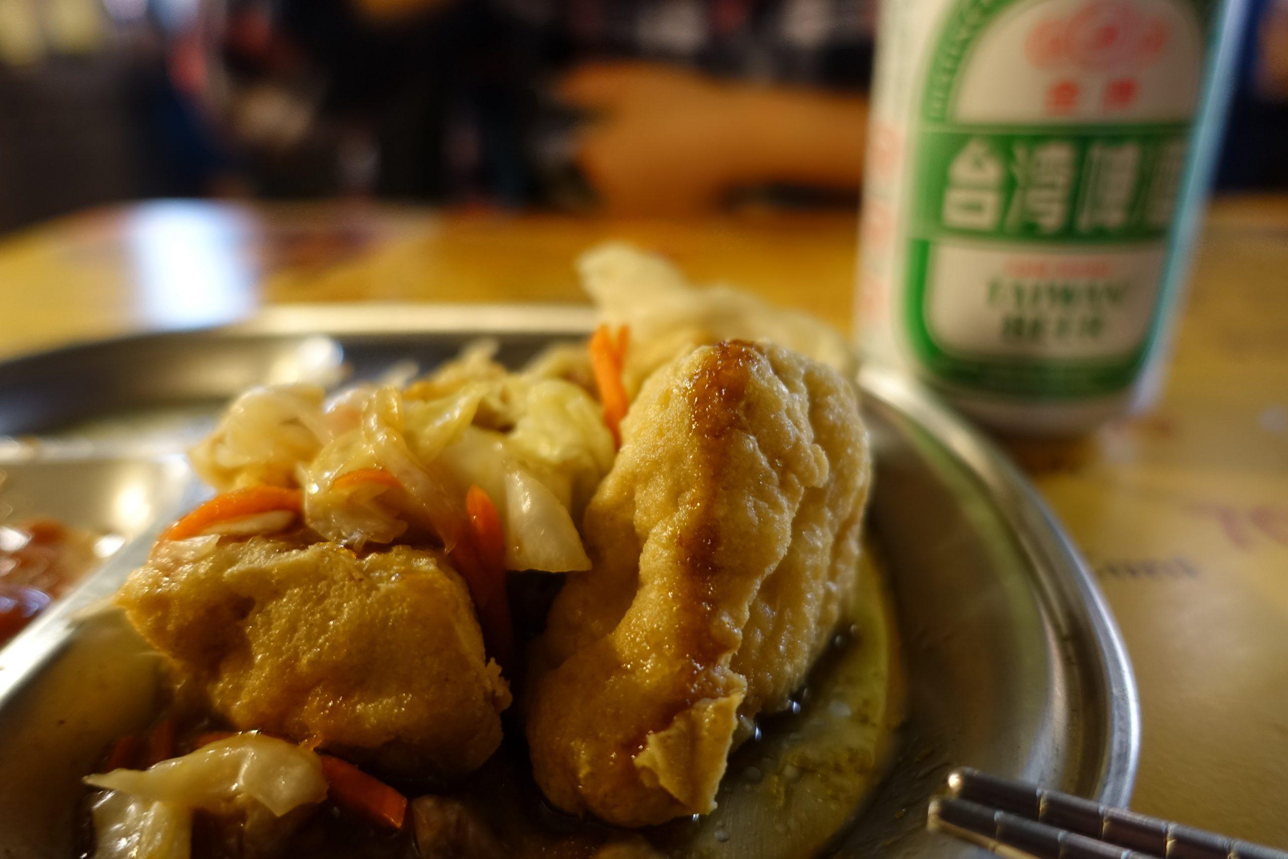 寧夏夜市「里長伯」の臭豆腐