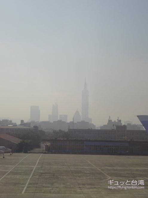 松山空港から見た台北101