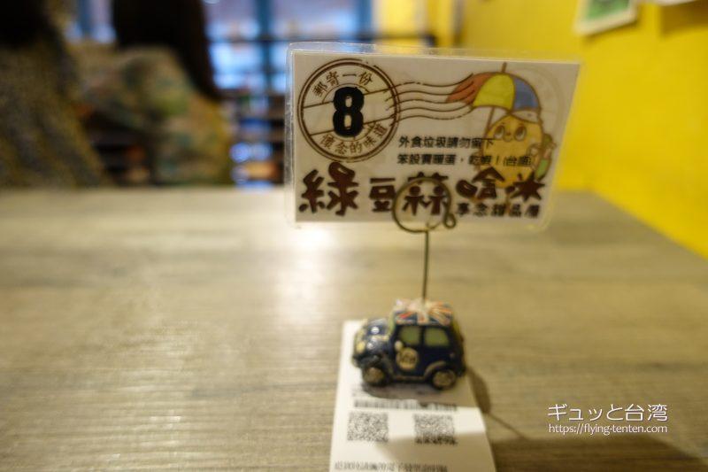 緑豆蒜啥咪の番号札