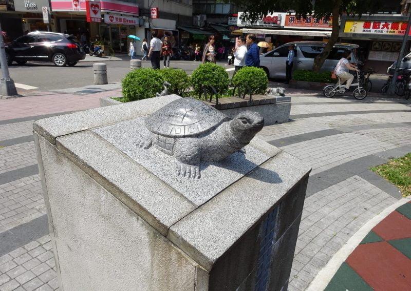 瑠公圳公園の亀