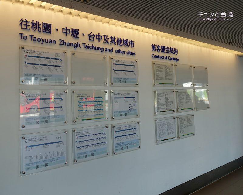桃園空港バス路線図