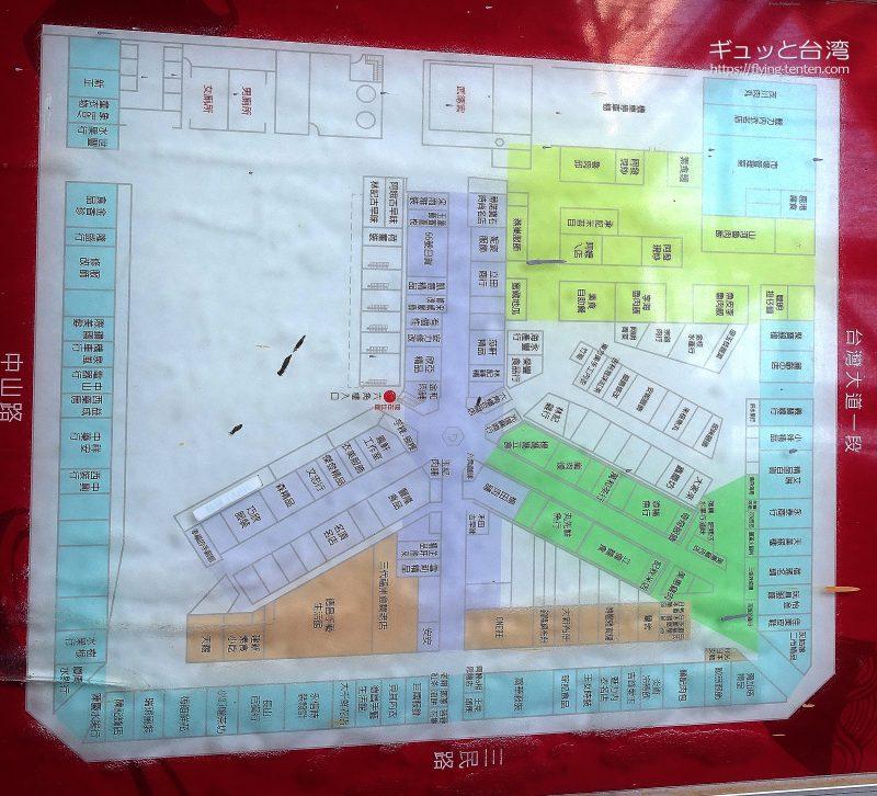 台中第二市場の地圖
